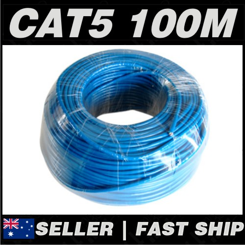 1 x 100m cat5 cat5e 100mbps solid core rj45 network cable. Black Bedroom Furniture Sets. Home Design Ideas