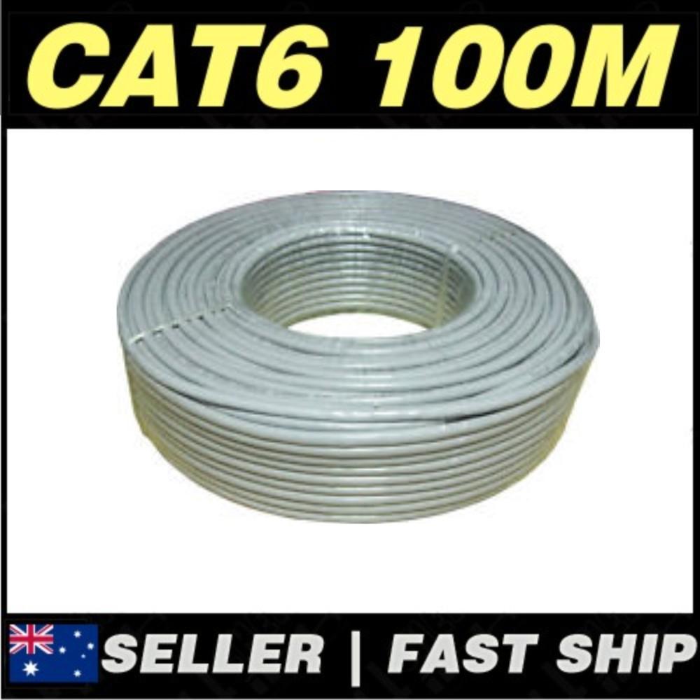1 x 100m grey cat 6 cat6 1000mbps rj45 ethernet network lan patch cable ebay. Black Bedroom Furniture Sets. Home Design Ideas