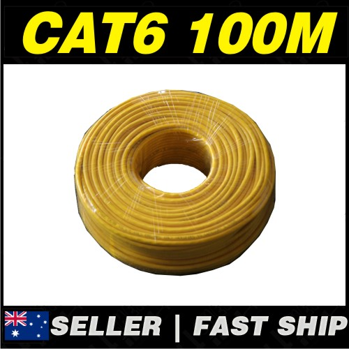 1 x 100m yellow cat 6 cat6 1000mbps rj11 rj45 ethernet network lan patch cable ebay. Black Bedroom Furniture Sets. Home Design Ideas